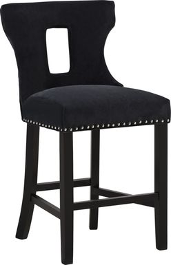 Andalasia Black Counter Height Stool