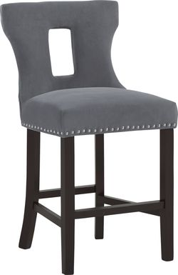 Andalasia Gray Counter Height Stool