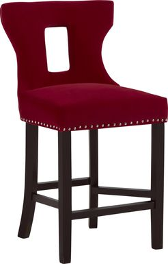 Andalasia Red Counter Height Stool