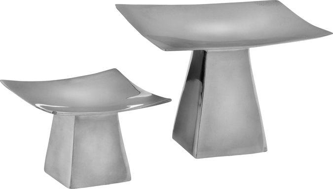 Anden Silver Candleholder Set of 2
