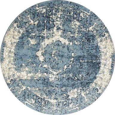 Andena Blue 5' Round Rug