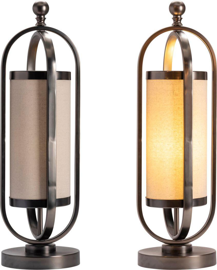 Angelbay Gunmetal Lamp, set of two