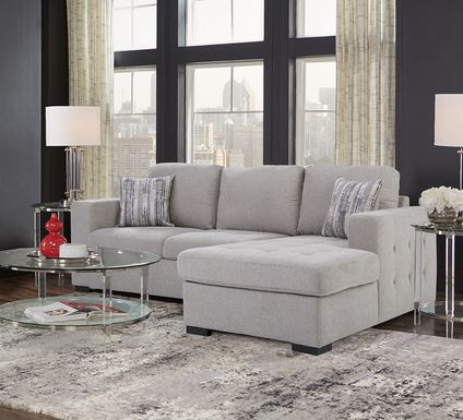 Angelino Heights Gray 2 Pc Sleeper Sectional