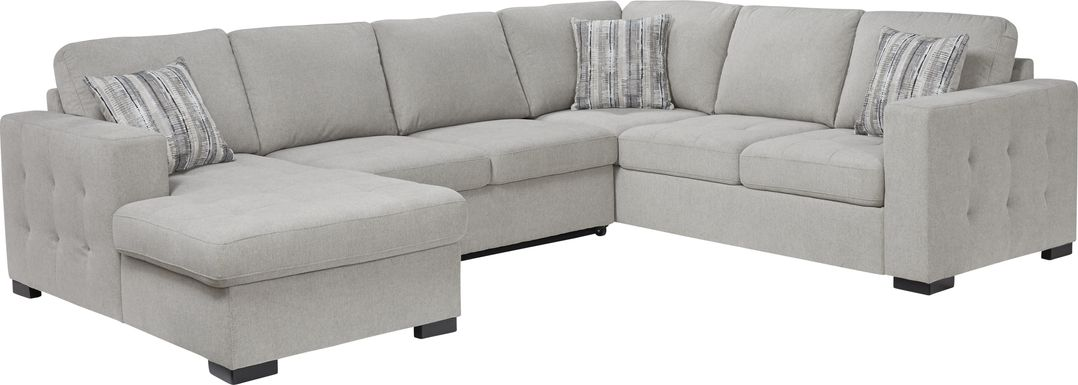 Angelino Heights Gray 3 Pc Sleeper Sectional