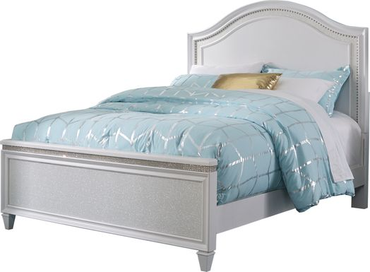 Angelique White 3 Pc Full Panel Bed
