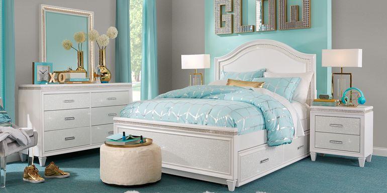 Angelique White 5 Pc Full Panel Bedroom