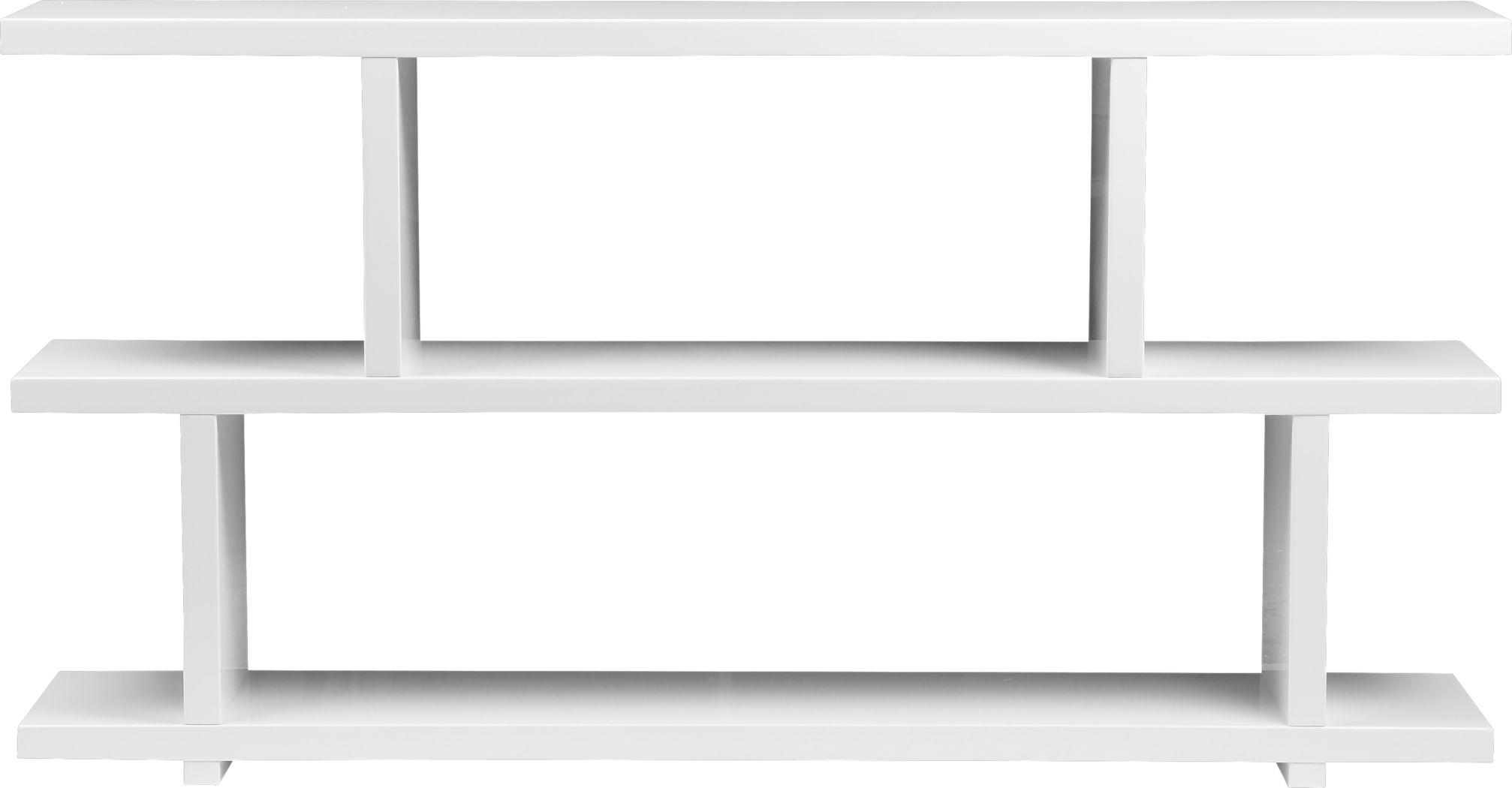 Ankerville White Bookcase