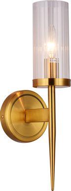Annabow Circle Brass Sconce