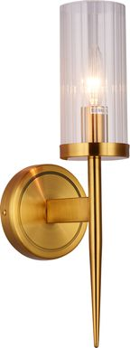 Annabow Circle Brass Sconce