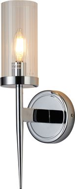 Annabow Circle Chrome Sconce