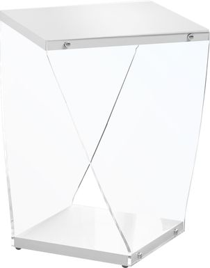 Ansted White Accent Table