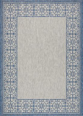 Anvita Blue 8' x 11' Indoor/Outdoor Rug