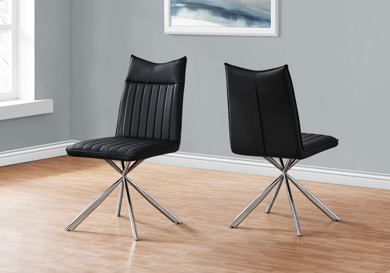 Appaloosa Black Chrome Side Chair, Set of 2