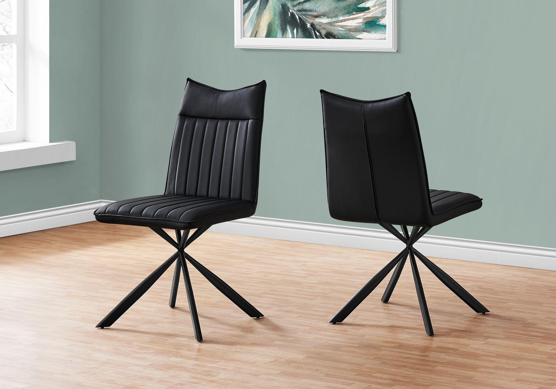 Appaloosa Black Side Chair, Set of 2