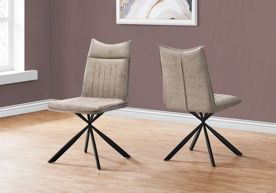 Appaloosa Taupe Side Chair, Set of 2