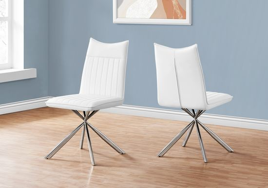Appaloosa White Side Chair, Set of 2