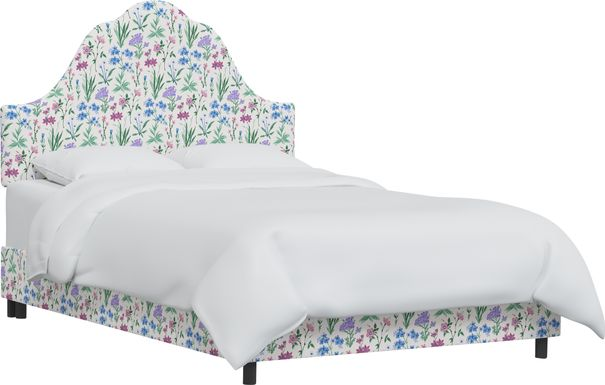 Aquaflor Blue Queen Upholstered Bed