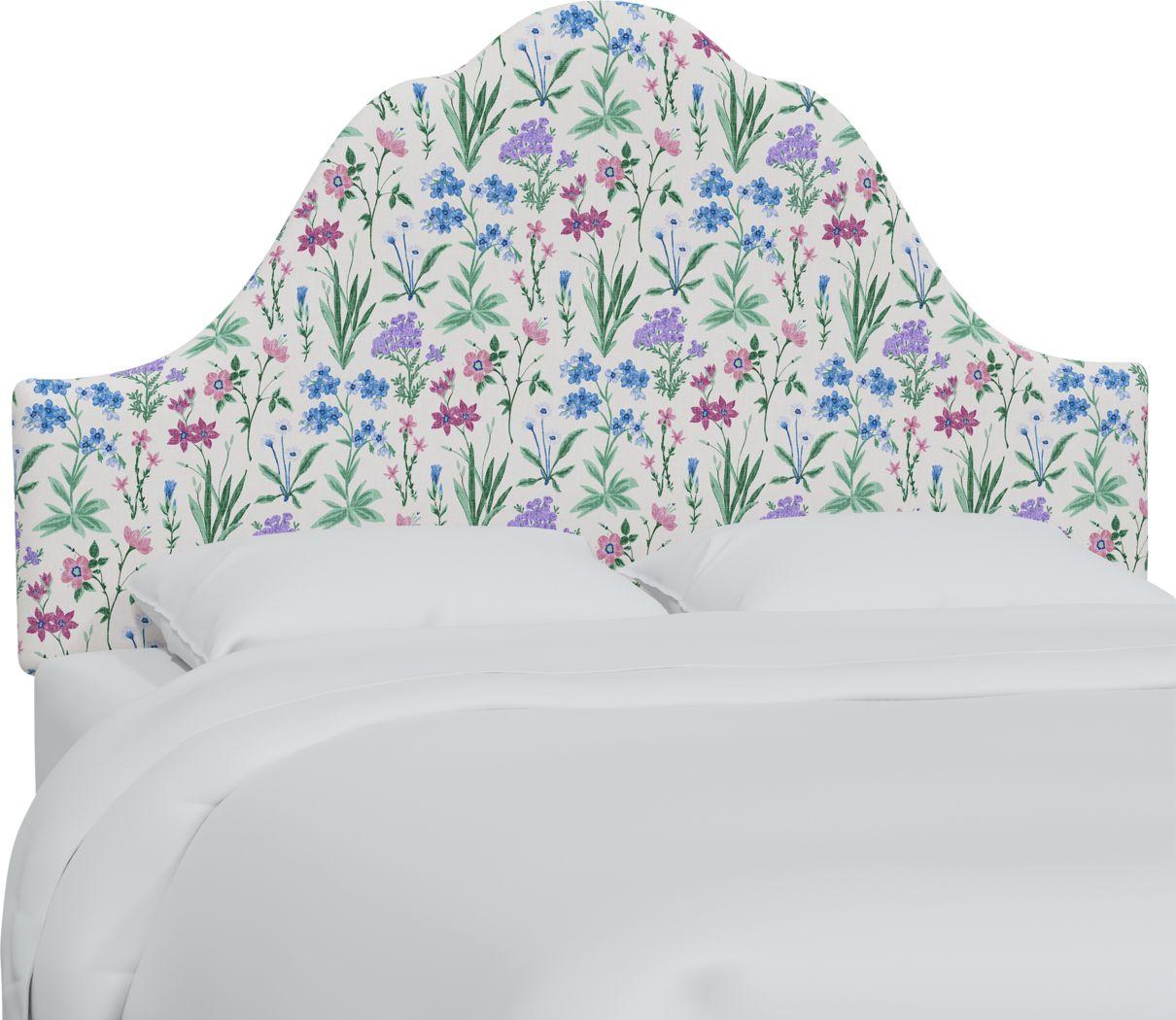 Aquaflor Blue Queen Upholstered Headboard