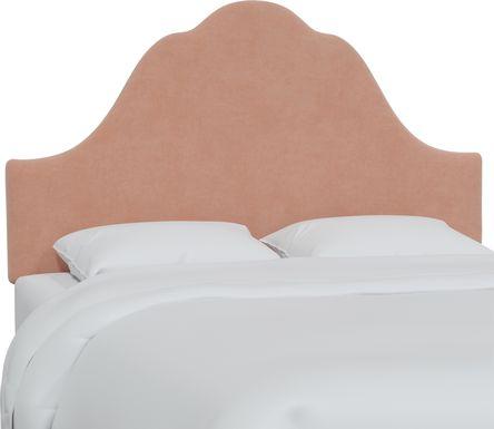 Aquaflor Pink Twin Upholstered Headboard