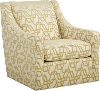 Arabela Gold Accent Swivel Chair