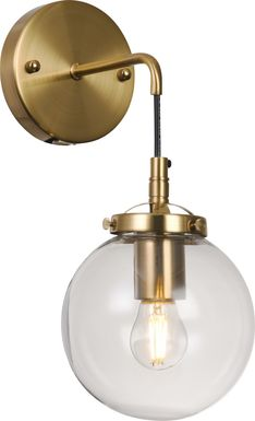 Aracadia Heights Brass Sconce