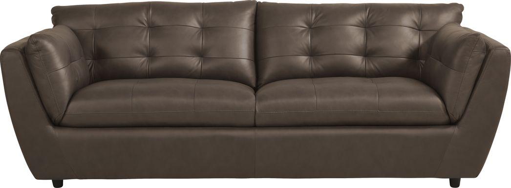 Aragon Brown Leather Sofa