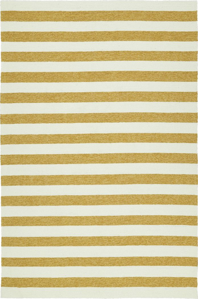 Araminta Gold 5' x 7'6 Indoor/Outdoor Rug