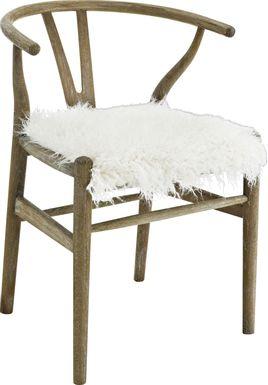 Aramon White Accent Chair