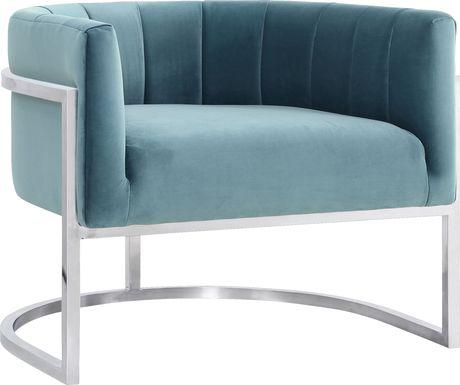 Arietta Blue Accent Chair