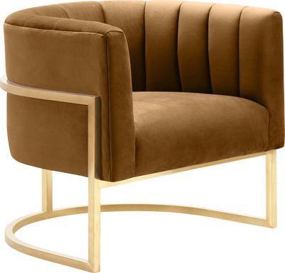Arietta Cognac Accent Chair