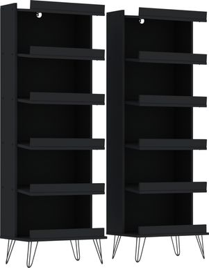 Arkose Black 2 Pc Accent Cabinet