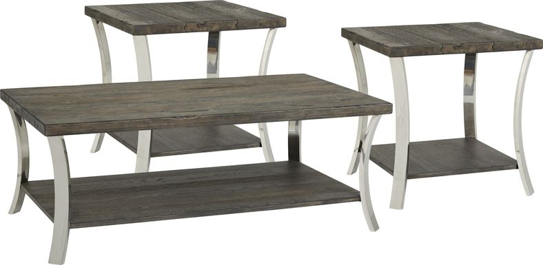 Arland Brown 3 Pc Table Set