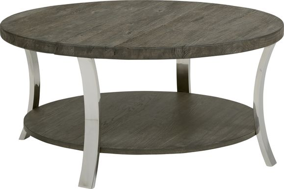 Arland Brown Round Cocktail Table