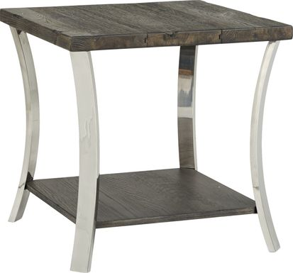 Arland Brown Square End Table