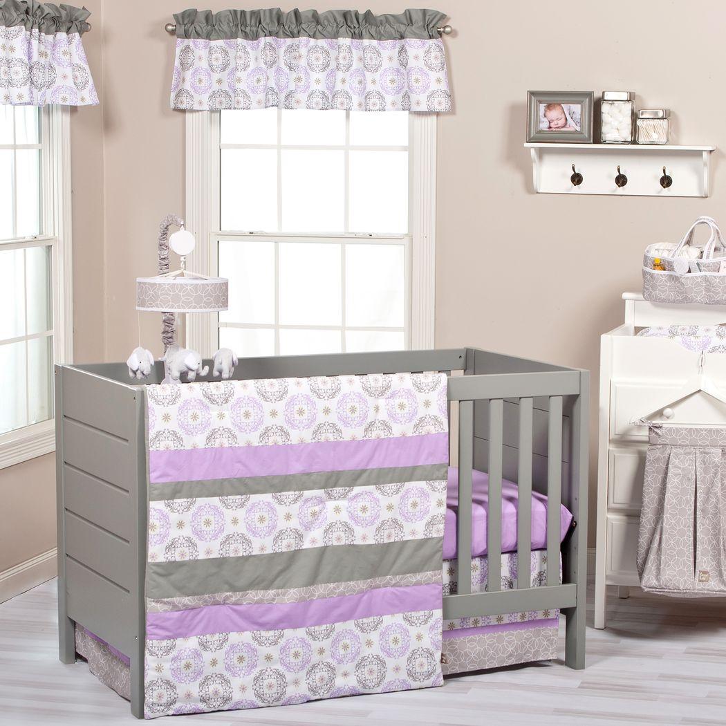Arlisa Lilac 3 Pc Baby Bedding Set