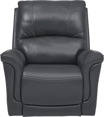 Armano Gray Triple Power Leather Recliner