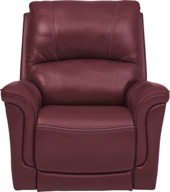 Armano Red Triple Power Leather Recliner
