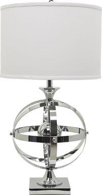Armillary Silver Lamp
