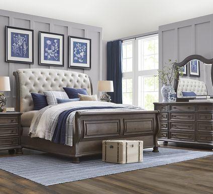 Armitage Dark Brown 7 Pc King Upholstered Bedroom