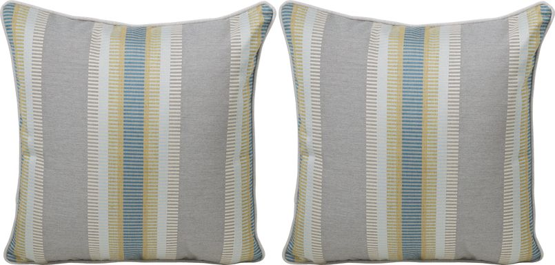 Arnise Isle Light Taupe Indoor/Outdoor Accent Pillow, Set of Two