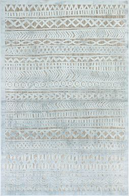 Arthea Blue 4'10 x 7'6 Indoor/Outdoor Rug