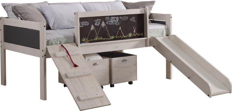 Artspace White Twin Jr. Loft Bed