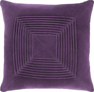 Aryana I Dark Purple Accent Pillow