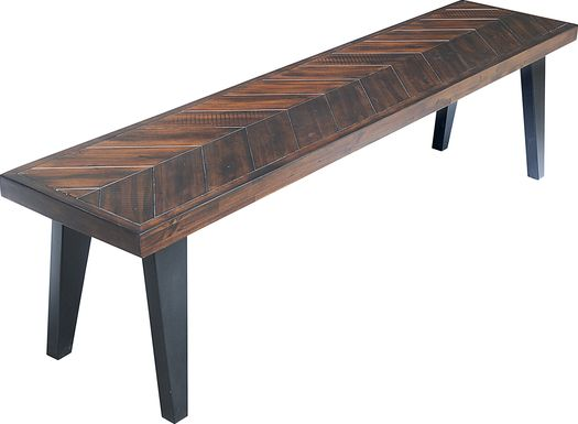 Ash Grove Dark Brown Bench