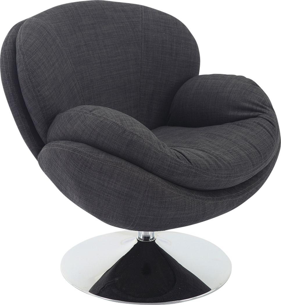 Ashbrook Black Accent Swivel Chair
