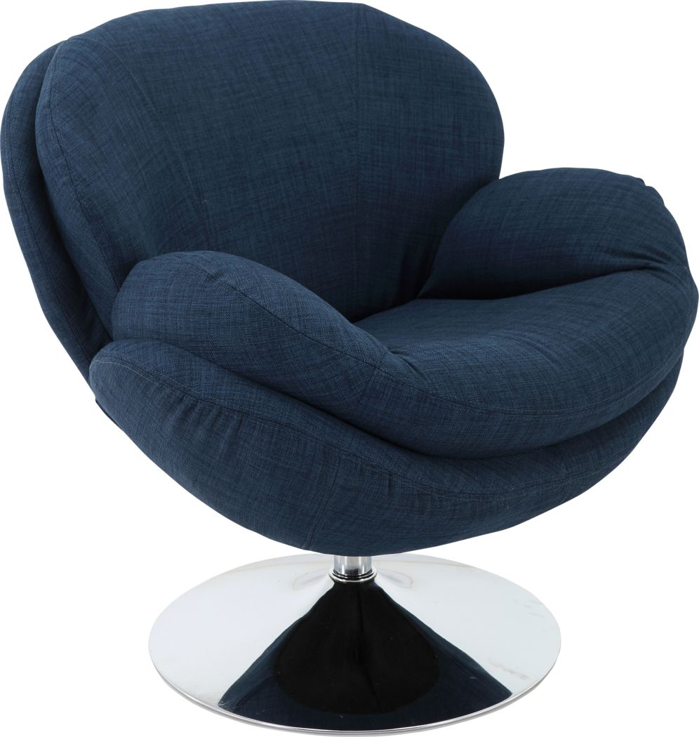 Ashbrook Blue Accent Swivel Chair