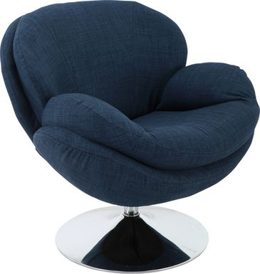 Ashbrook Blue Accent Swivel Chair