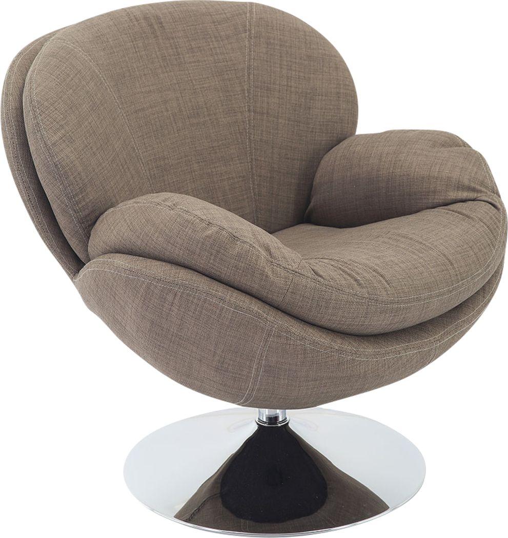 Ashbrook Khaki Accent Swivel Chair