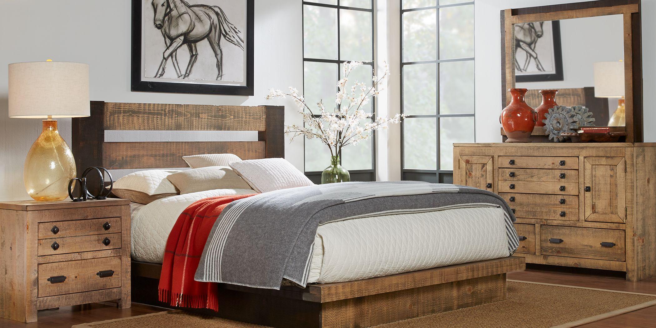 Asher Driftwood 6 Pc Queen Bedroom