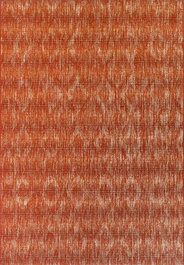 Ashland Heights Red 5'1 x 7' Indoor/Outdoor Rug